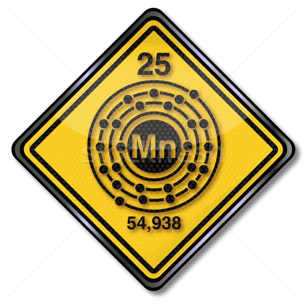 Photo stock: Signe · chimie · personnage · signes · recherche · étiquette