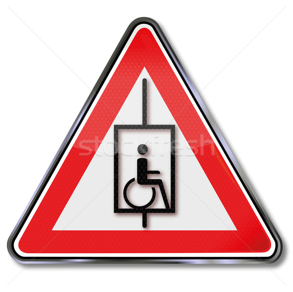 Sign elevator to all for wheelchair users Stock photo © Ustofre9