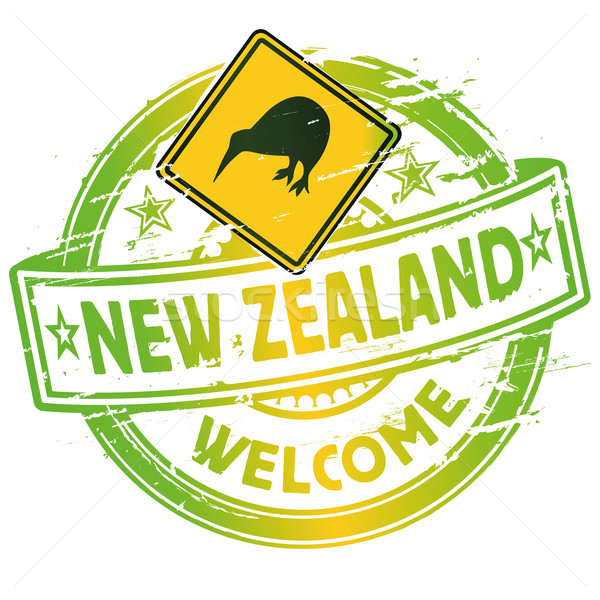 Rubber stamp welcome in New Zealand Stock photo © Ustofre9