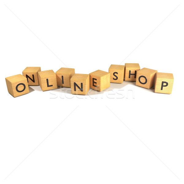 Cubes with online shop Stock photo © Ustofre9