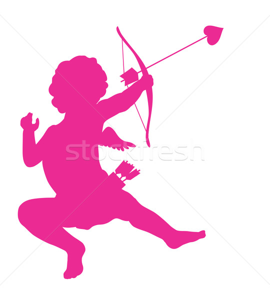 Cupid silhouette Stock photo © vadimmmus