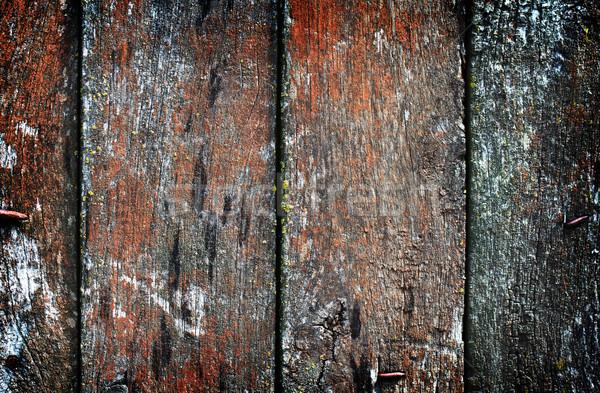 Klasszikus fából készült textúra közelkép épület fal Stock fotó © vadimmmus