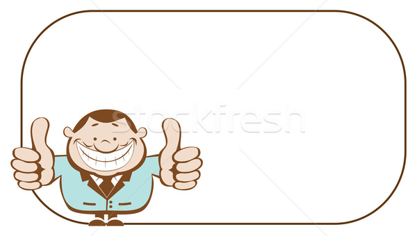 счастливым бизнесмен ретро-стиле копия пространства Сток-фото © vadimmmus