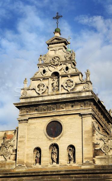 древних Церкви Blue Sky текстуры строительство дизайна Сток-фото © vadimmmus