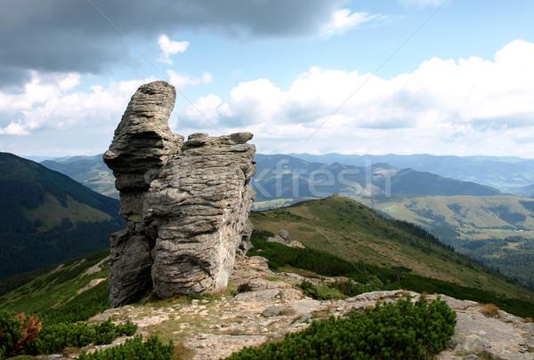 Kő őr kövek hegyek égbolt természet Stock fotó © vadimmmus