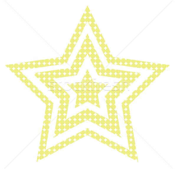 Diszkó csillag stilizált retro izolált tánc Stock fotó © vadimmmus