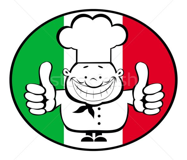 Heureux chef logo cartoon souriant Photo stock © vadimmmus