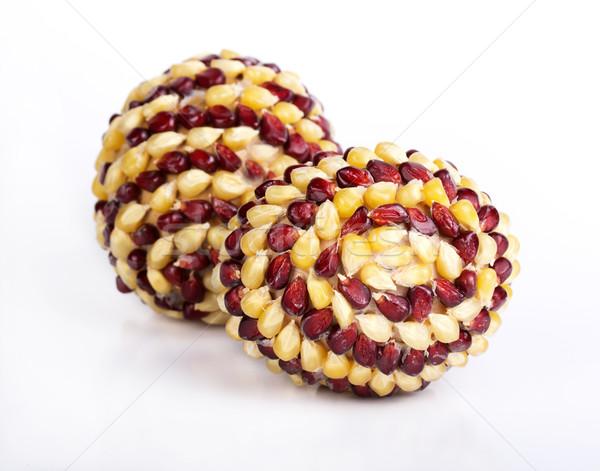 пасхальных яиц яйца украшенный кукурузы изолированный стороны Сток-фото © vadimmmus
