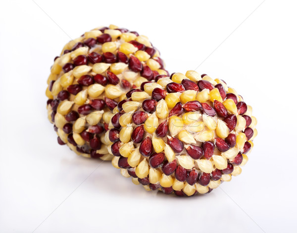 Paskalya yumurtası yumurta dekore edilmiş mısır yalıtılmış el Stok fotoğraf © vadimmmus
