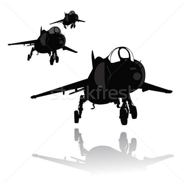 Landing plane silhouette Stock photo © vadimmmus