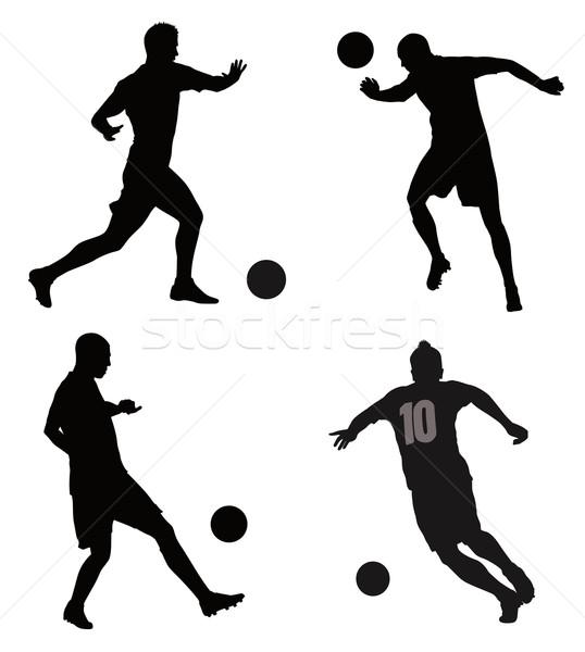 Сток-фото: Футбол · подробный · вектора · набор