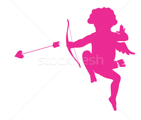 Cupid silhouette Stock photo © vadimmmus