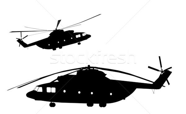 вертолета подробный вектора отдельный Сток-фото © vadimmmus