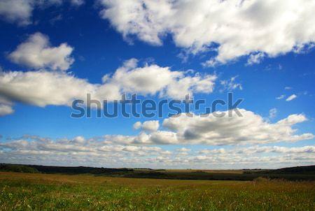 Manzara yaz alan mavi bulutlu gökyüzü Stok fotoğraf © vadimmmus