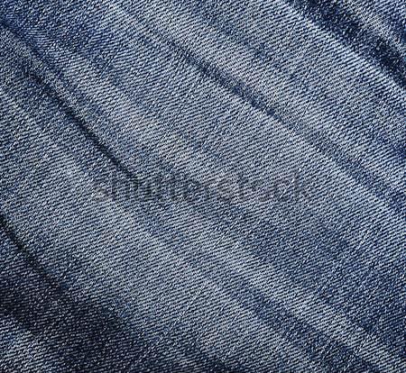 Farmer textúra ráncos elnyűtt közelkép kék Stock fotó © vadimmmus