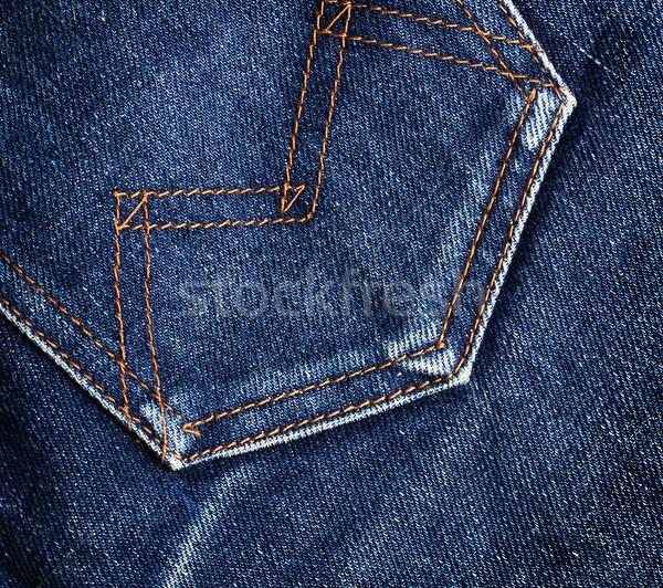 джинсов кармана синий джинсовой текстуры Сток-фото © vadimmmus