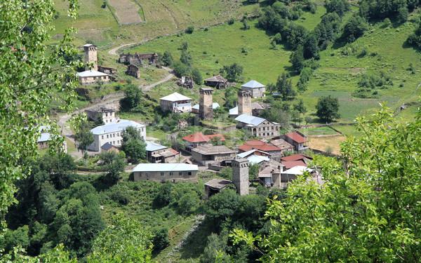 Georgian village Stock photo © vadimmmus