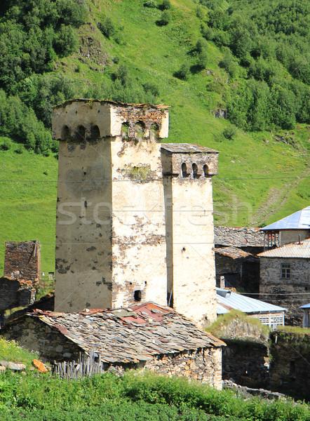 старые башни древних towers холмы Blue Sky Сток-фото © vadimmmus