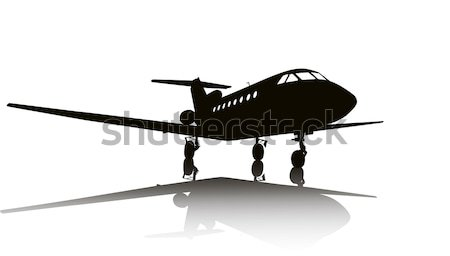 самолет Vintage биплан вектора силуэта небе Сток-фото © vadimmmus