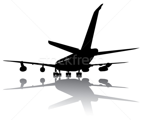 Aircraft silhouette Stock photo © vadimmmus