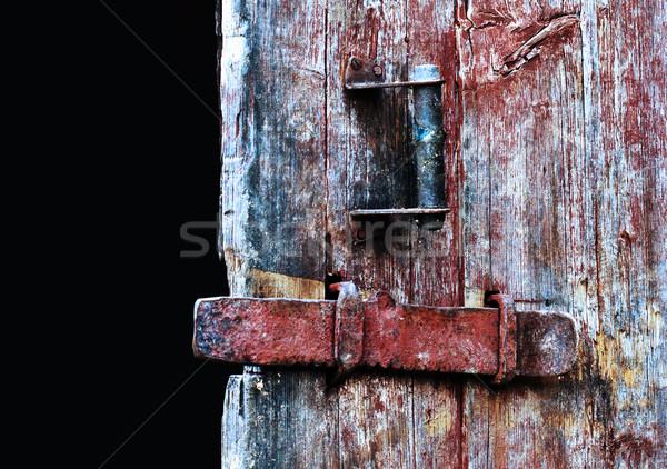 öreg ajtó klasszikus fából készült közelkép fa Stock fotó © vadimmmus