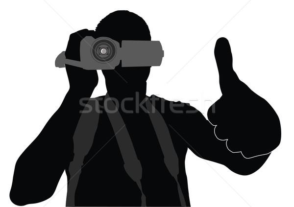 человека вектора силуэта Сток-фото © vadimmmus