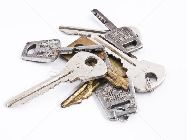 Kulcsok izolált öreg rozsdás fehér ház Stock fotó © vadimmmus