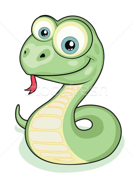улыбаясь змеи Cartoon Kid изолированный 2013 Сток-фото © vadimmmus