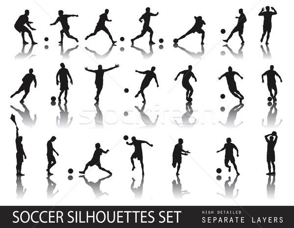 Футбол набор подробный вектора Сток-фото © vadimmmus