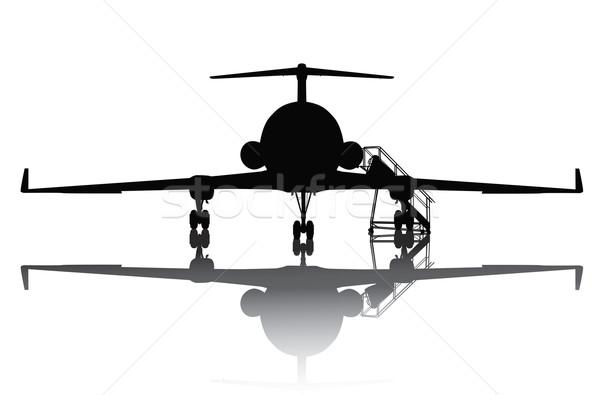 Aircraft silhouette Stock photo © vadimmmus