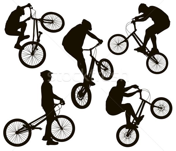 набор велосипедов трюк подробный Сток-фото © vadimmmus