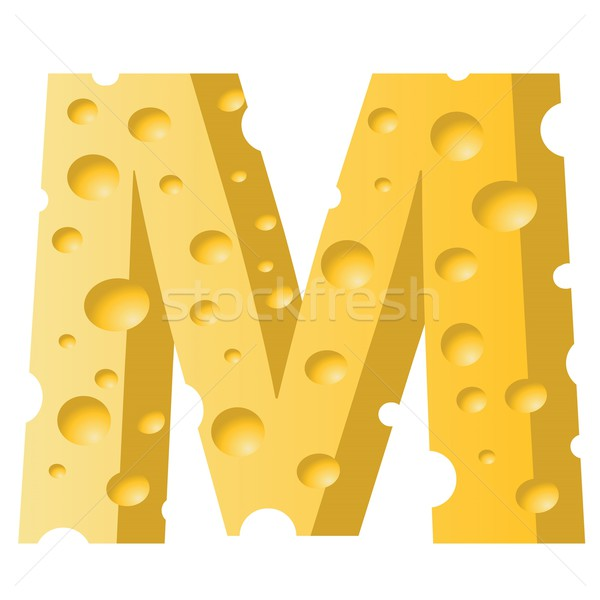 сыра буква М красочный иллюстрация белый текстуры Сток-фото © Valeo5