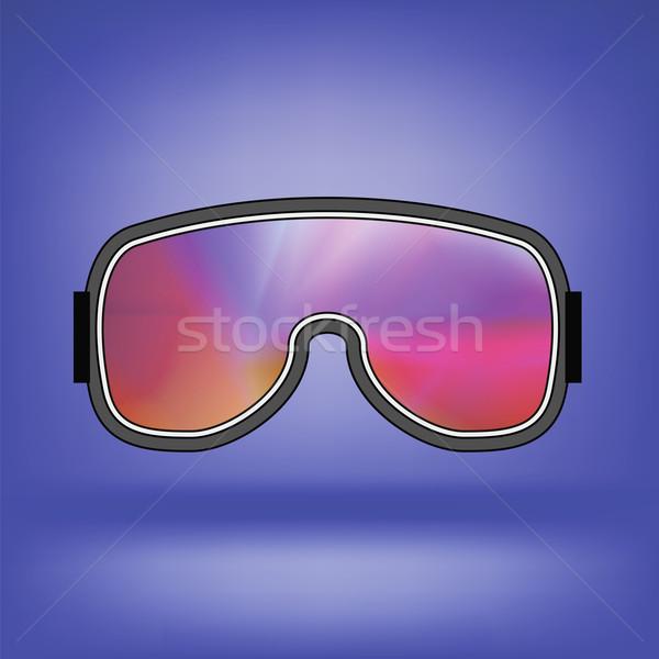 лыжных красочный очки изолированный синий мягкой Сток-фото © Valeo5
