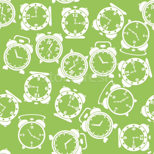 Silhouettes of Clock Icon Seamless Pattern Stock photo © Valeo5