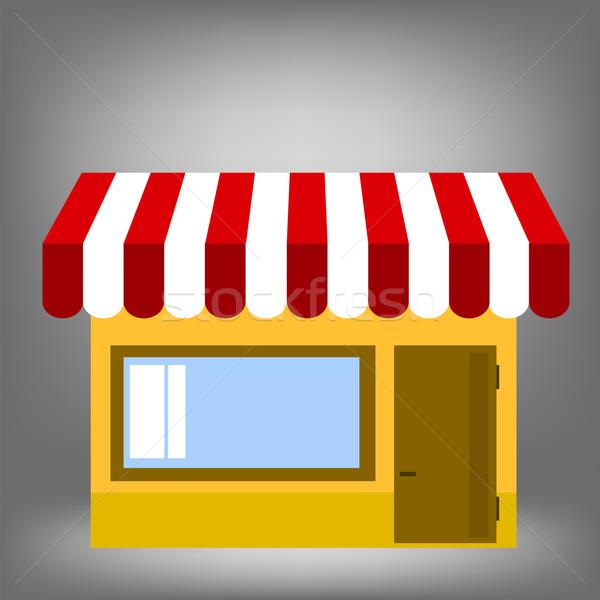 магазине икона изолированный серый расплывчатый бизнеса Сток-фото © Valeo5