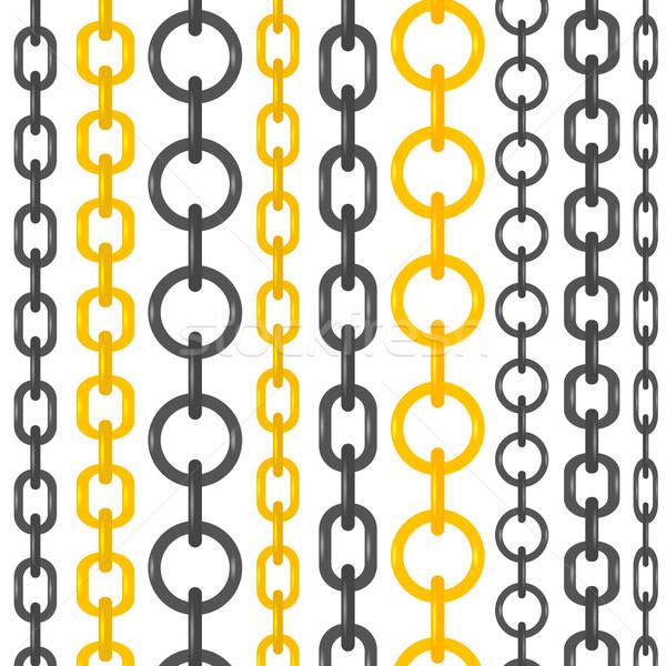 набор различный цепями изолированный белый аннотация Сток-фото © Valeo5