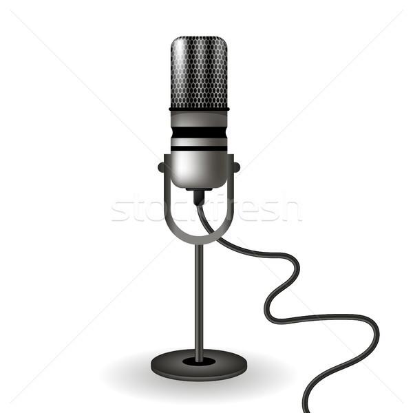 Retro Microphone Icon Stock photo © Valeo5