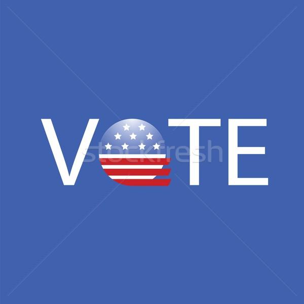 Stok fotoğraf: Amerika · Birleşik · Devletleri · seçim · oy · düğme · renkli · örnek