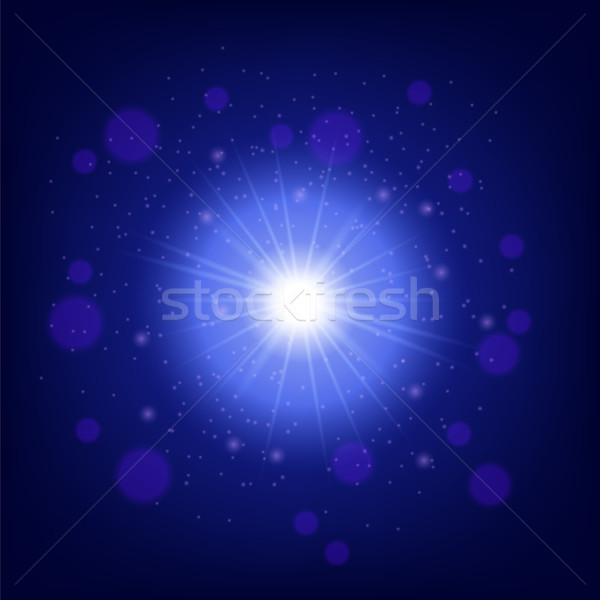 Vector Light effect on blue background Stock photo © Valeo5