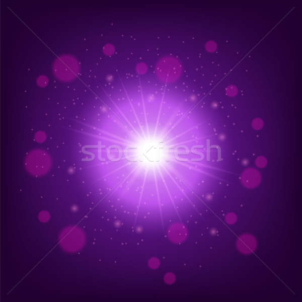 Light effect on Pink background. Star burst with sparkles Stock photo © Valeo5