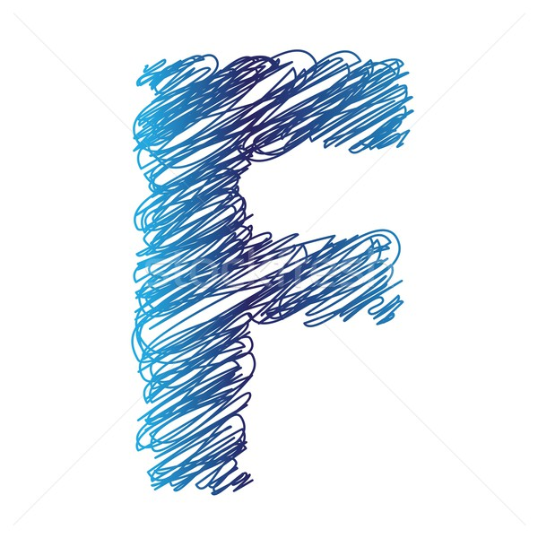 sketched letter F Stock photo © Valeo5