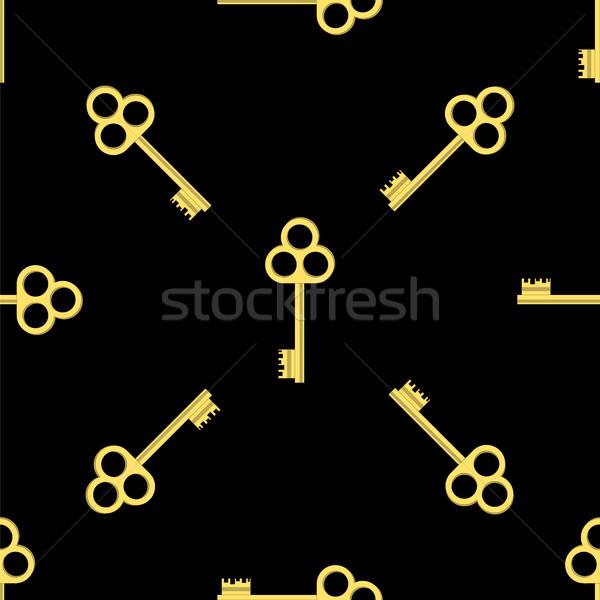 Altın anahtar model sarı tuşları Stok fotoğraf © Valeo5
