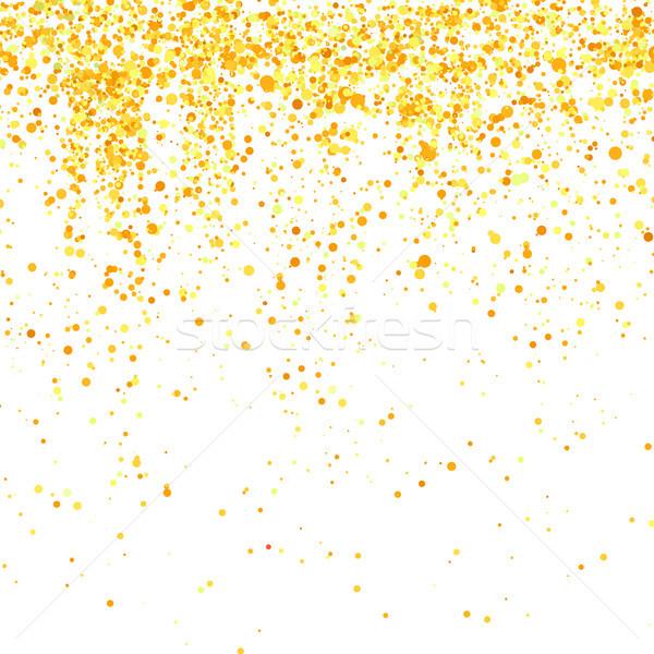 Altın konfeti model yalıtılmış beyaz dizayn Stok fotoğraf © Valeo5