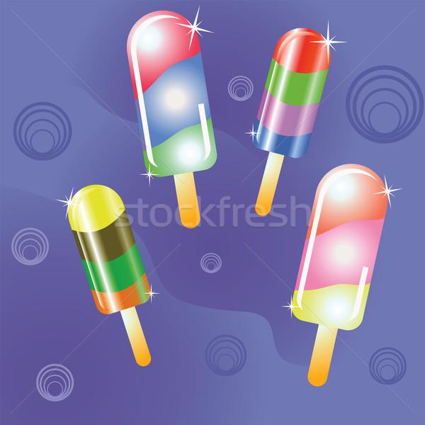 Ijs kleurrijk illustratie voedsel kunst tabel Stockfoto © Valeo5