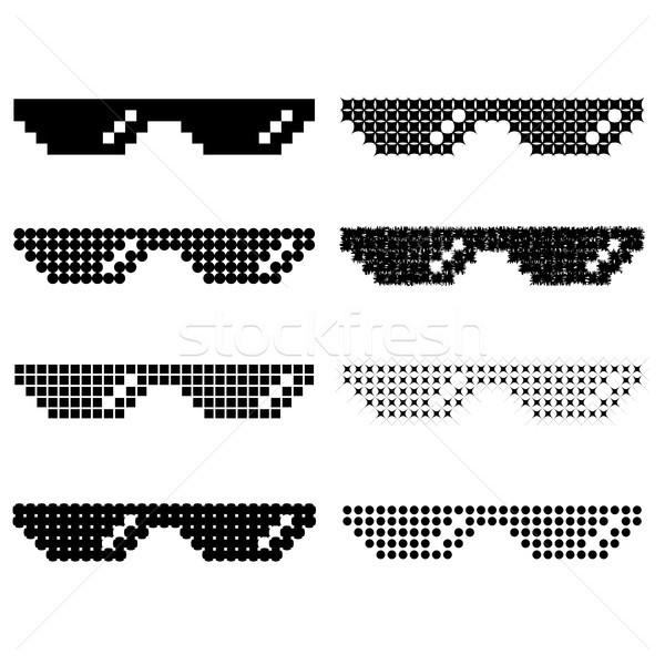 Set of Different Pixel Glasses Stock photo © Valeo5