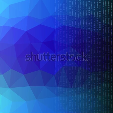 Binary Code Blue Polygonal Background Stock photo © Valeo5