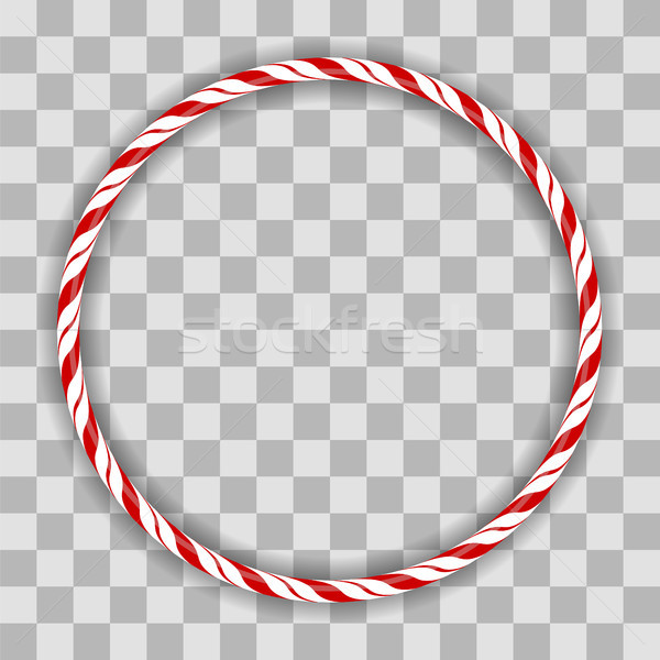 Sweet Striped Candy Circle Frame Stock photo © Valeo5