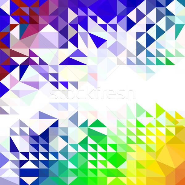 Abstract kleurrijk patroon meetkundig driehoek Stockfoto © Valeo5
