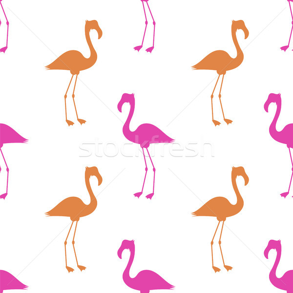 Pink Flamingo Seamless Pattern Stock photo © Valeo5