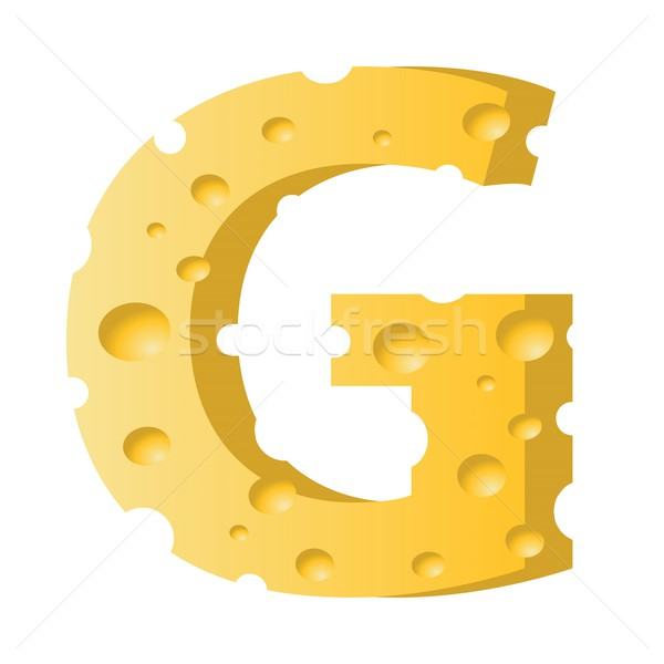 Peynir mektup g renkli örnek beyaz doku Stok fotoğraf © Valeo5